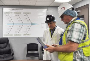 Alan Barfoot, Central Georgia region manager at the Georgia Manufacturing Extension Partnership, and Brian Krafczyk, continuous improvement manager at Chicken of the Sea, discuss the company's continuous improvement program and safety training modules.