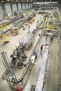 Canning lines at Crider Foods.