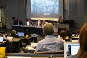 GaMEP Director, Karen Fite, moderates the Automation Panel at the 51st Annual Basic Economic Development Course.