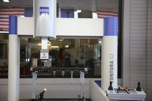 A machine used to measure parts to check specifications and quality.