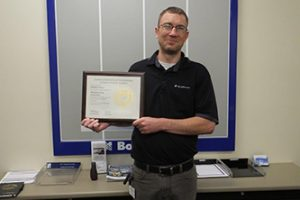 Chantrey Reece - master scheduler for BorgWarner receives the first Manufacturing Leadership Certificate by GaMEP at Georgia Tech