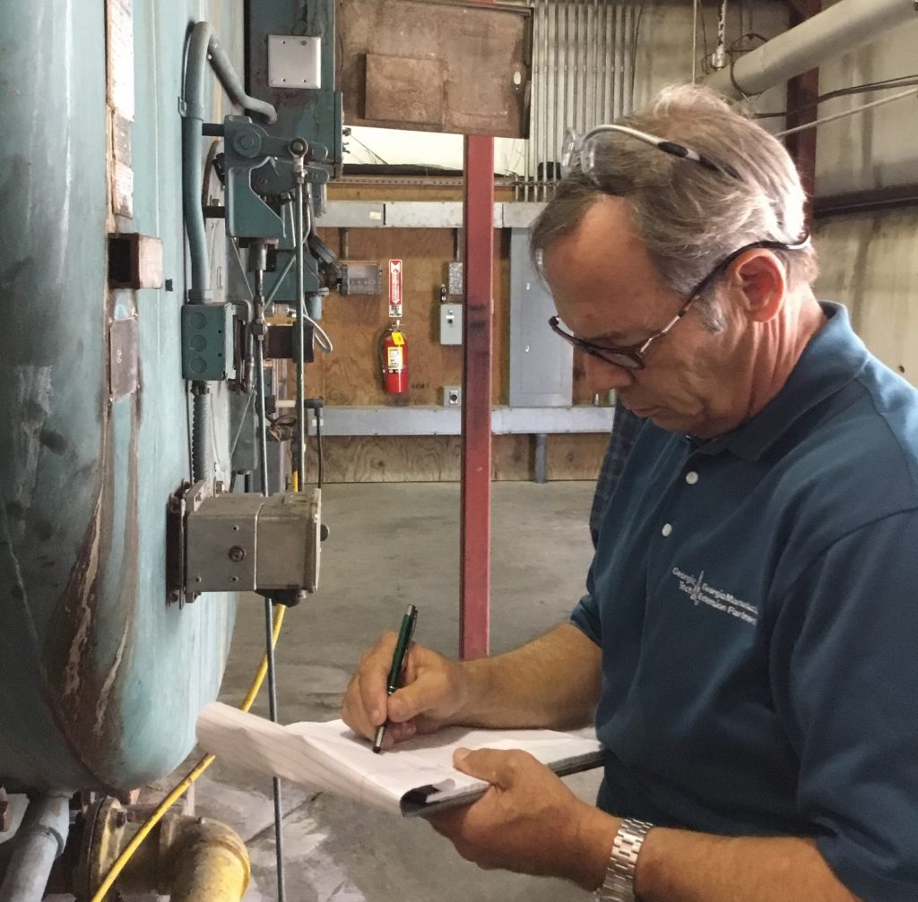 GaMEP Project Manager, Randy Green, assesses energy usage at Crider Foods in Stillmore, GA.