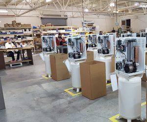 Plant floor at Fizz Dispense Optimization Group.