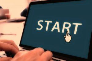 Start screen for an online course.