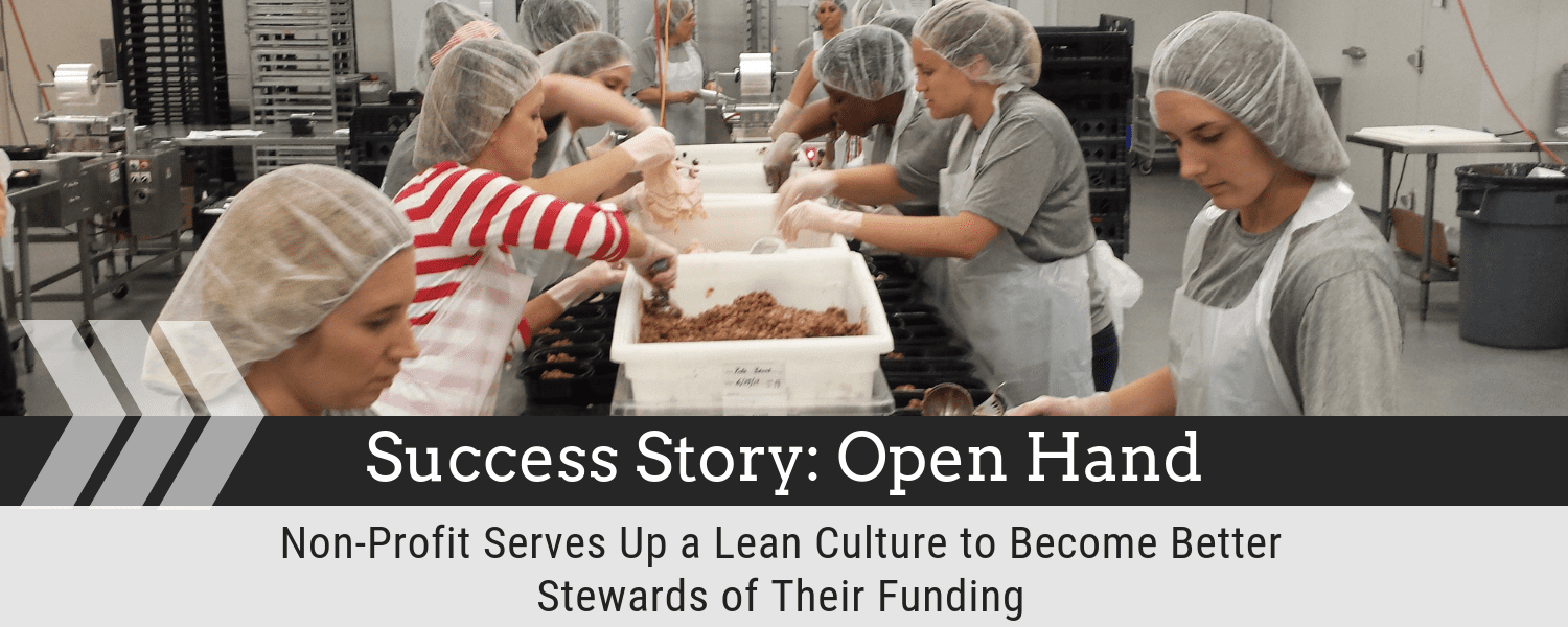 Success Story: Open Hand - Non-Profit Serves Up a Lean Culture to Become Better Stewards of their Funding