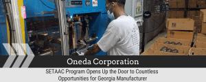 SETAAC Program Opens Up the Door to Countless Opportunities for Georgia Manufacturer